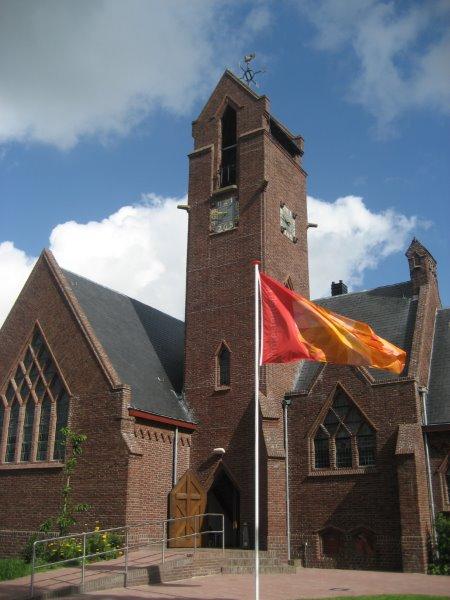 Huidige kerkgebouw van de Protestantse Gemeente Halfweg-Zwanenburg